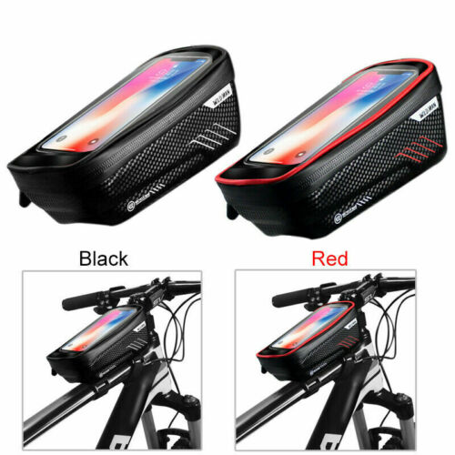 Bicycle Rainproof  Bag Front Frame Bag Waterproof 6.2inch Pouch for Mobile Phone