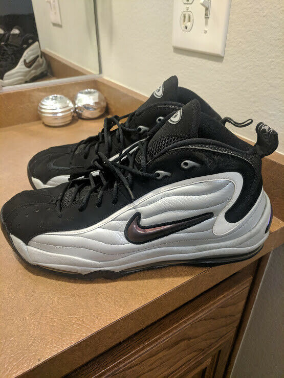 NIKE AIR TOTAL MAX UPTEMPO 366724-001 METALLIC SILVER BLACK WHITE SZ 13 SPURS XI
