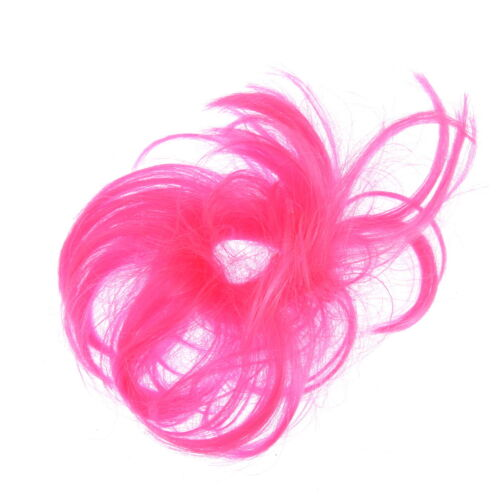 Synthetic Hair Scrunchie//Elastic Holder Messy  Bun Ponytail imitation fun frd4