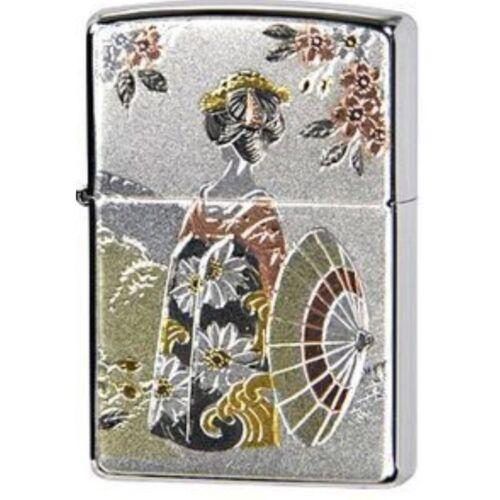 Zippo Maiko Geisha Kyoto Electroformed Japanese Traditional Crafts Japan F//S New