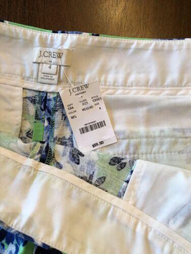 Sz Jcrew misto Womens Shorts pieghettato Factory 4 floreale Stampa lino qPq84C