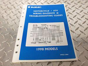 1998 Suzuki Motorcycle & ATV Wiring Diagram Manual 99923 ...