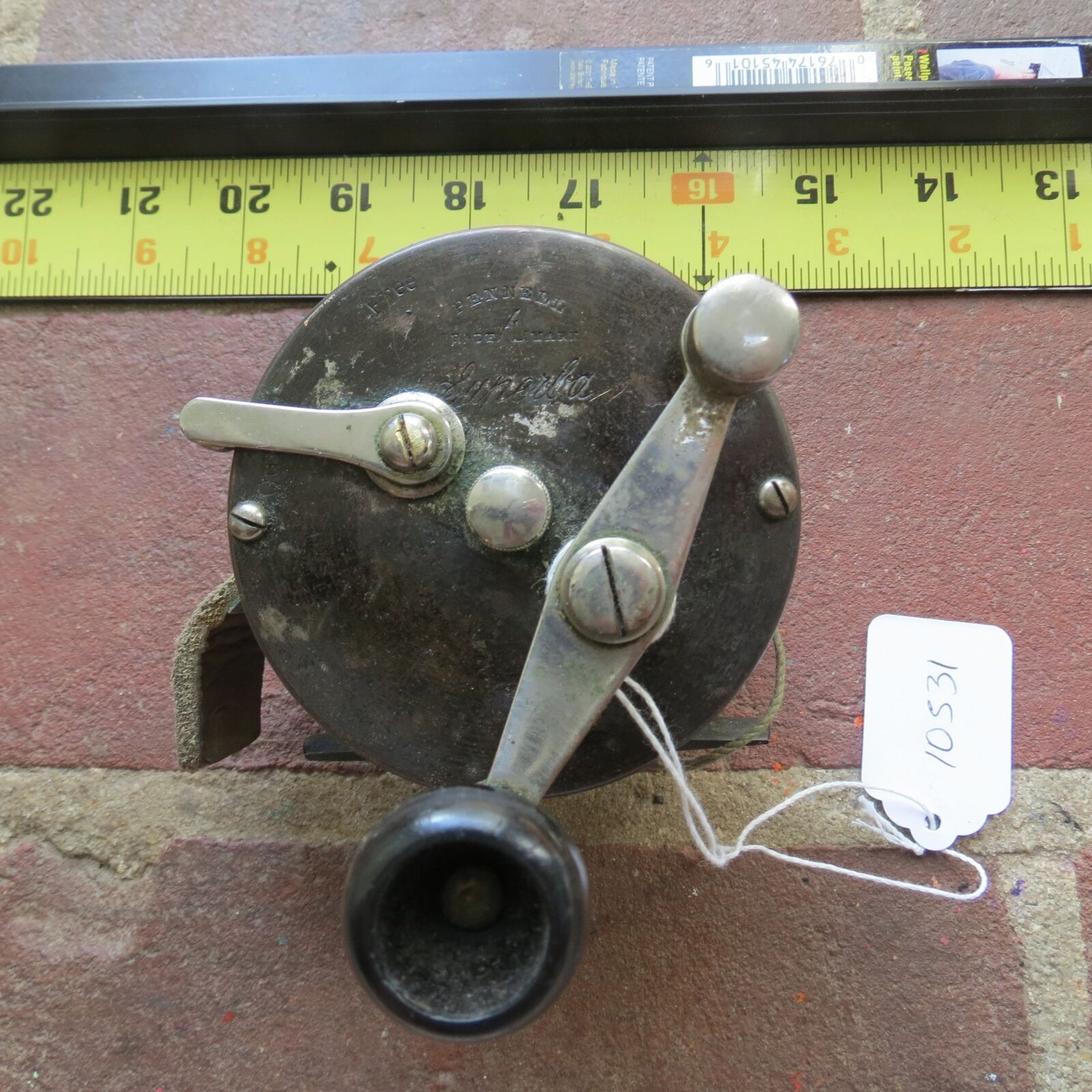 Vintage Anfang der 1900s Pennell Superba 200 Angelrolle (lot)