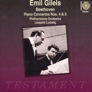 Beethoven-Piano-Concertos-Nos-4-amp-5-034-Emperor-034-Emil-Gilels-CD-1997-Testament