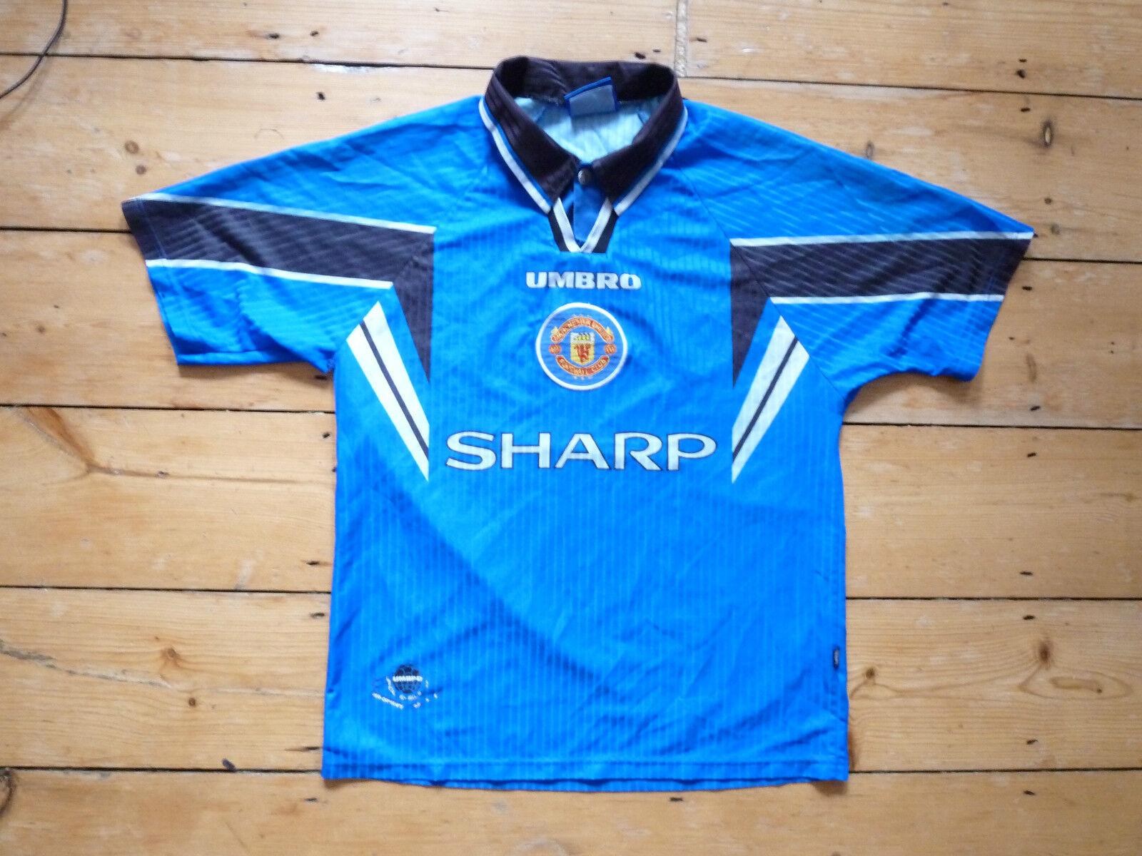 Manchester United Fußball Hemd 1996 Mittelgroß 3. Fußballjersey Maglia Camiesta