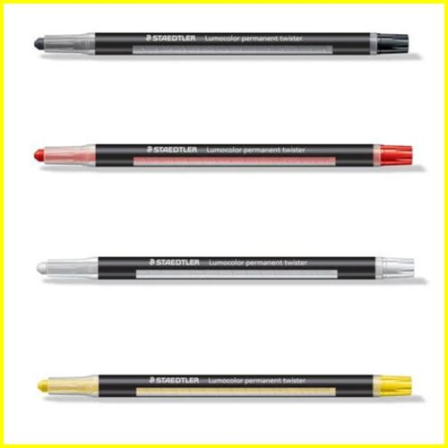 black-white-yellow-red STAEDTLER lumocolor Twister SEC Marqueurs permanent