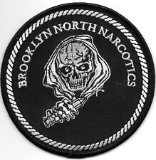 """Brooklyn North Narcotics, NY # 2  (4"""" round size) shoulder police patch (fire)"""