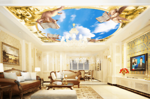 3D Angel Baby Cloud 73 Ceiling Wall Paper Print Wall Indoor Wall Murals CA Carly