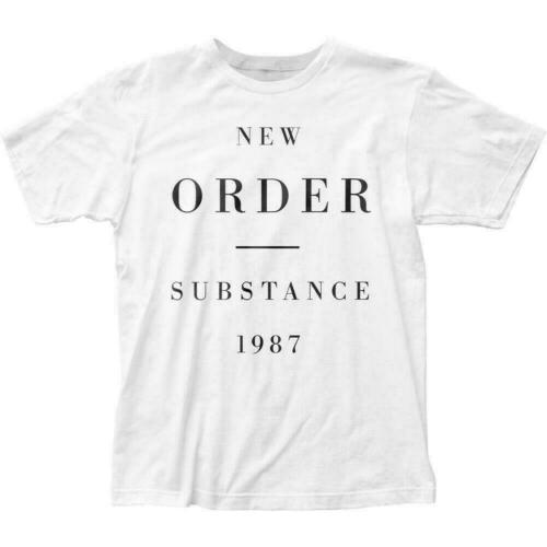 New Order Substance 1987 T Shirt Mens Licensed Rock N Roll Band Retro Tee White