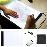 Led Art A4 Light Box Stencil Board Tracing Drawing Table + Base Accessories