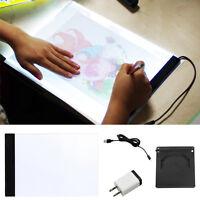A4 Led Light Artcraft Stencil Child Art Tracing Drawing Sketch Board Tattoo Pad