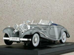 MB Mercedes Benz 500k Special Roadster - 1936 - greymetallic - Maisto 1:18