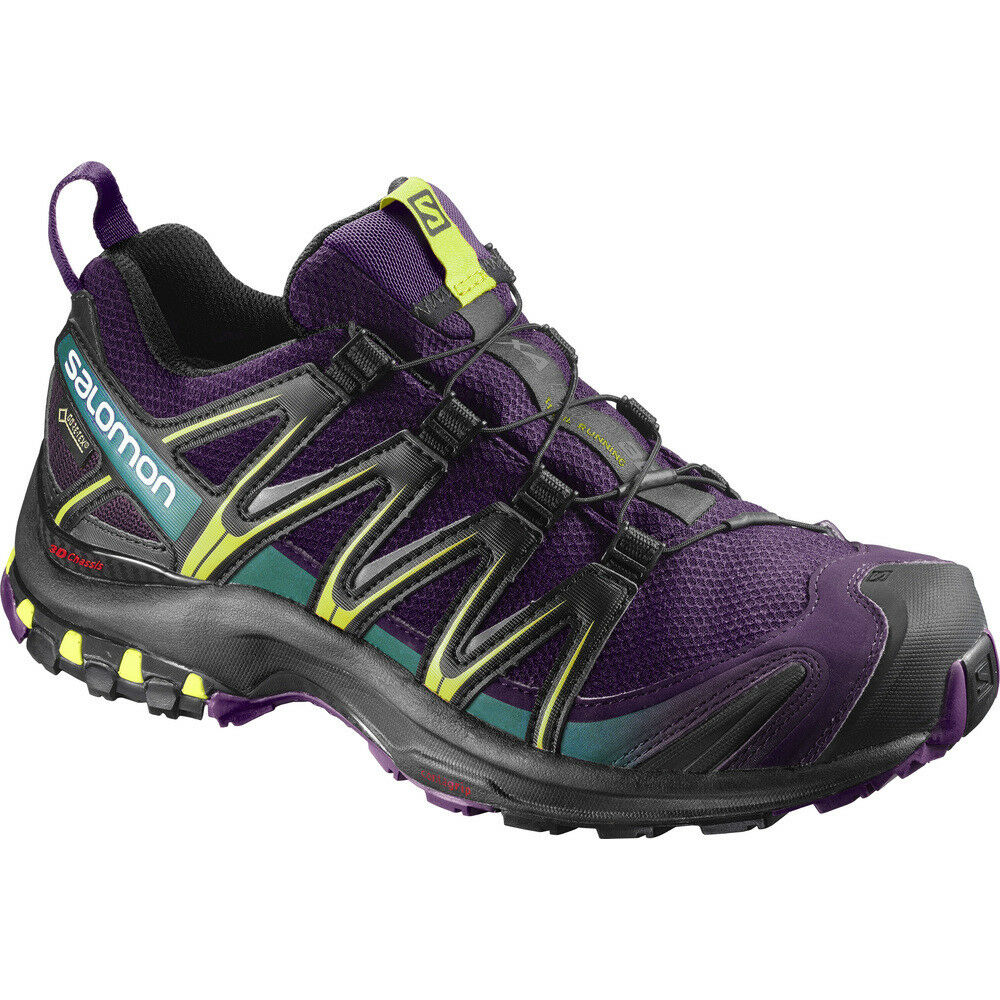 shoes de course sur sentier Femme SALOMON XA PRO  3D GTX W woman Acai black  online at best price