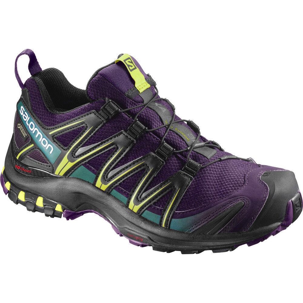 TRAIL RUNNING Schuhe Damen SALOMON XA PRO 3D GTX W woman Acai Schwarz Dynasty Gr