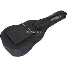 FULL SIZE Imbottita Protettiva classica acustica chitarra Retro Borsa Valigetta Nero