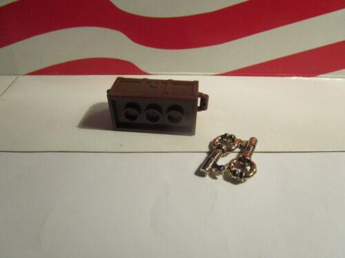 LEGO 1 OLD BROWN TREASURE CHEST 2 GOLD KEYS HARRY POTTER HOGWARTS EXPRESS 4708