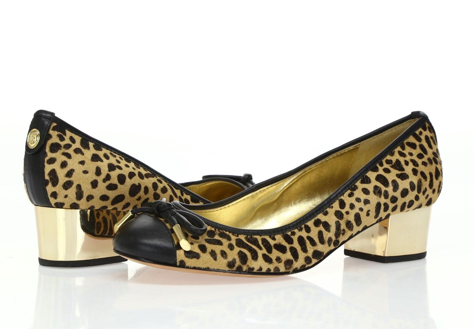 Womens IVANKA TRUMP  VALENTIN  leopard print leather cow hair pumps sz. 6.5