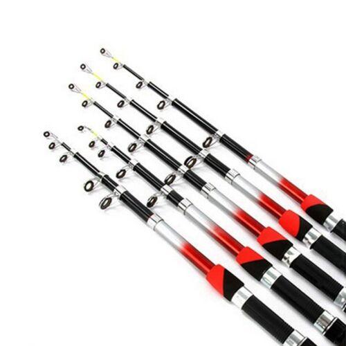 Portable Telescopic Fishing Rod Glass Fiber Pole Travel Sea Spinning Carbon Mete