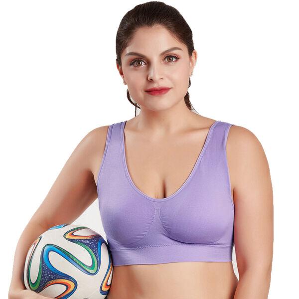 2/3 Frauen Nahtlose Sport Gym BH Soft Cup Weste Atmungsaktive Freizeit Crop Tops