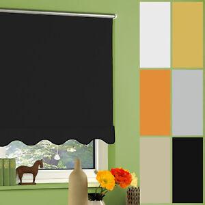 hitzeschutzrollo thermorollo verdunkelungsrollo fenster rollo vorhang mit volant ebay. Black Bedroom Furniture Sets. Home Design Ideas