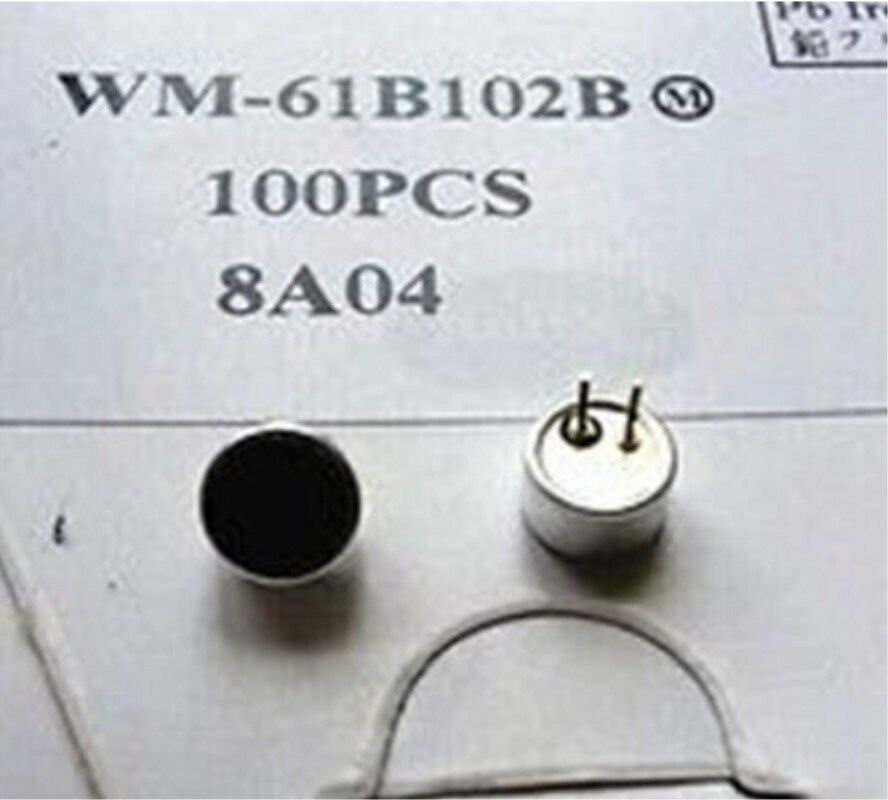 New 50pcs WM-61B102B Electret Condenser MIC Capsule Microphone Cartridge