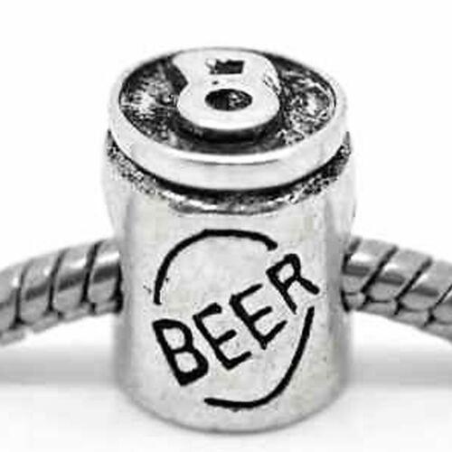 """/"""" Beer Can /"""" Perle Anhänger für Europäischen Schlange Kette Charm Armbänder"""