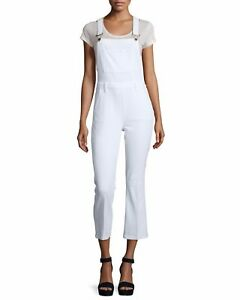 329 Overalls Usa Sz Nwt White M Mace Blanc Cropped Frame Denim Antibes In TB8RqR