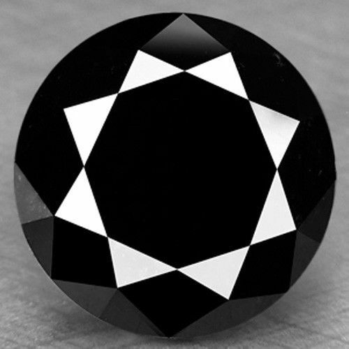 6.80 Ct Natural Fancy Black Color Round Loose Diamond 4 Jewelry//Ring//Earrings