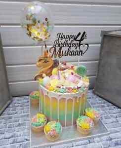 BALLOON-CAKE-TOPPER-GOLD-CONFETTI-WEDDING-PARTY-BIRTHDAY-BABY-HELLO-ONE-UNICORN