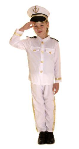 FANCY DRESS CHILDRENS KIDS CAPTAIN SAILOR COSTUME IN 3 SIZES S L M