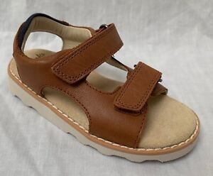 bbb7e8e8d Details about BNIB Clarks Boys Crown Root Tan Leather Air Spring Sandals G  Fitting