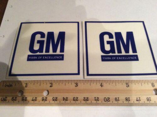 68 69 70 71 CHEVELLE CAMARO NOVA VETTE GM Mark Of Excellence Decal Transparent
