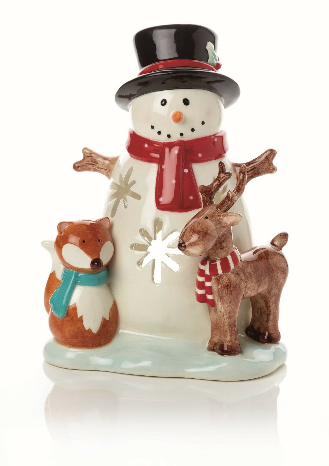 Christmas Decorations Large Christmas Deisgn Candle Holder Snowman Reindeer NEW