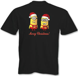 Merry-Christmas-T-Shirt-Mens-Funny-Minions-Minion-Xmas-Present-3XL-4XL-5XL