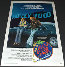 ALOHA BOBBY & ROSE 1975 ORIGINAL 27x41 ROLLED 1 SH MOVIE POSTER! 1968 CAMARO!!!!