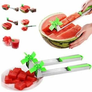 New-Watermelon-Cutter-Windmill-Shape-Plastic-Slicer-Cutting-Tool-Stainless-Steel