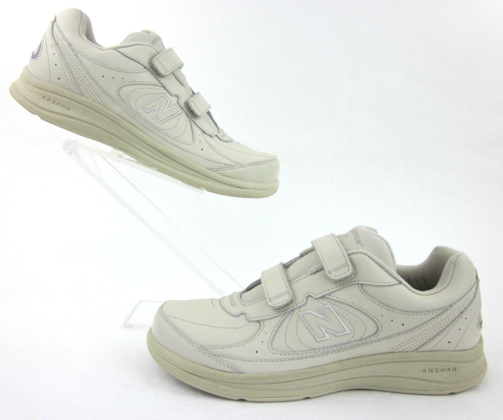 NEW  New Balance 577 Hook & Loop Leather Walking shoes Bone US 10D