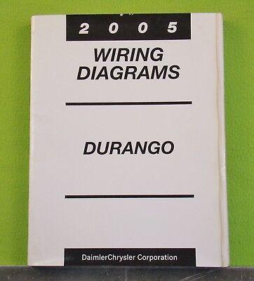 durango wiring diagram 2005 dodge durango factory wiring diagrams manual ebay  2005 dodge durango factory wiring