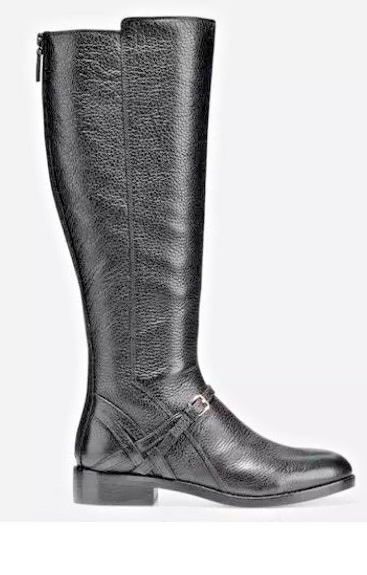 NEW COLE HAAN WOMENS PEARLIE BOOT - BLACK LEATHER Size 10 B W07895New In Box