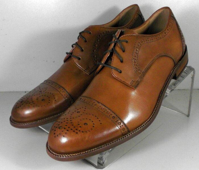 15NP526204 SP50 Men's Shoes Size 9 M Tan Leather Lace Up Johnston & Murphy