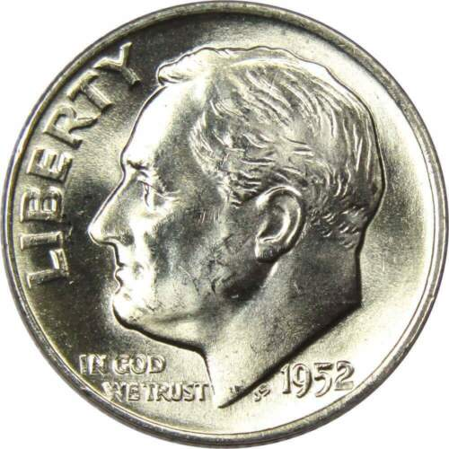1952 S 10c Roosevelt Silver Dime US Coin AG About Good