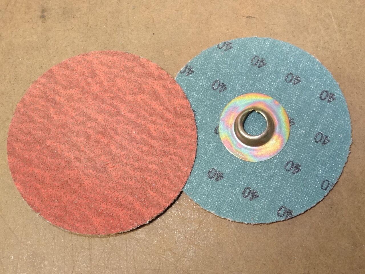 "50 SA STANDARD ABRASIVES 3/"" Socatt Pinnacle 2-Ply Grit 40 Sanding discs 525513"