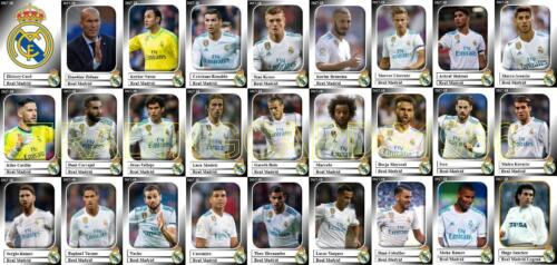 Real Madrid Football Squad trading cards 2017-18