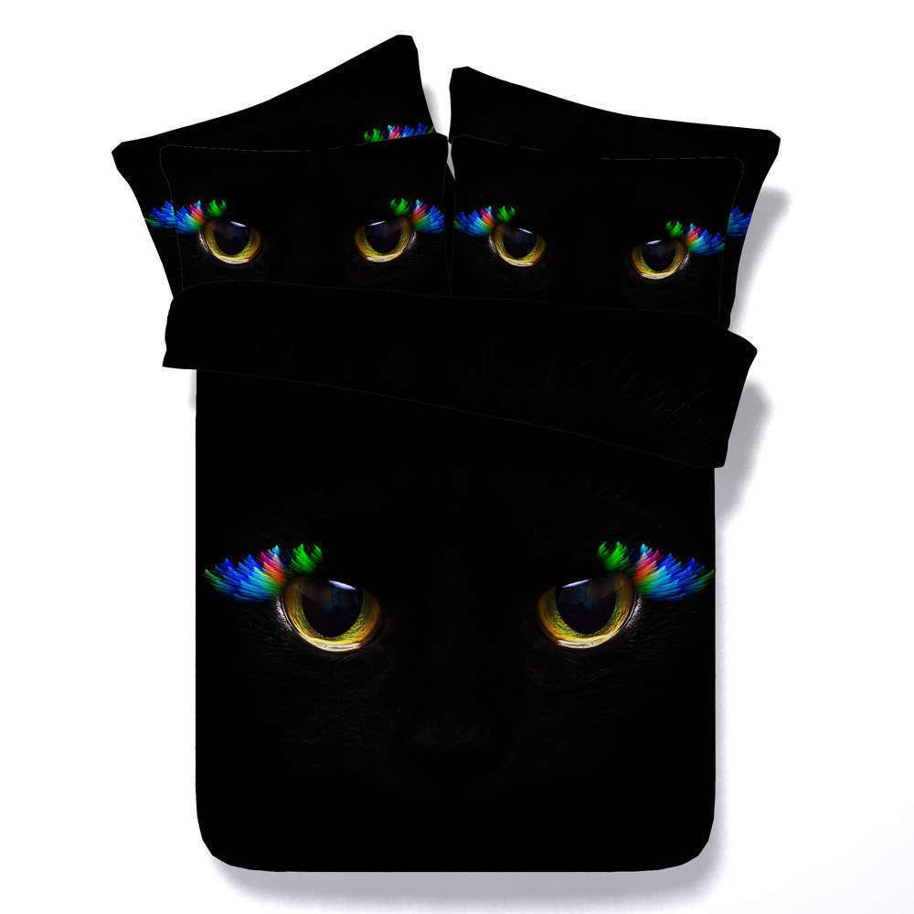 Coloured Eyelashes 3D Printing Duvet Quilt Doona Covers Pillow Case Bedding Sets