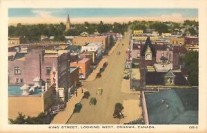 A-Bird-039-s-Eye-View-Of-King-Street-Looking-West-Oshawa-ON-Canada