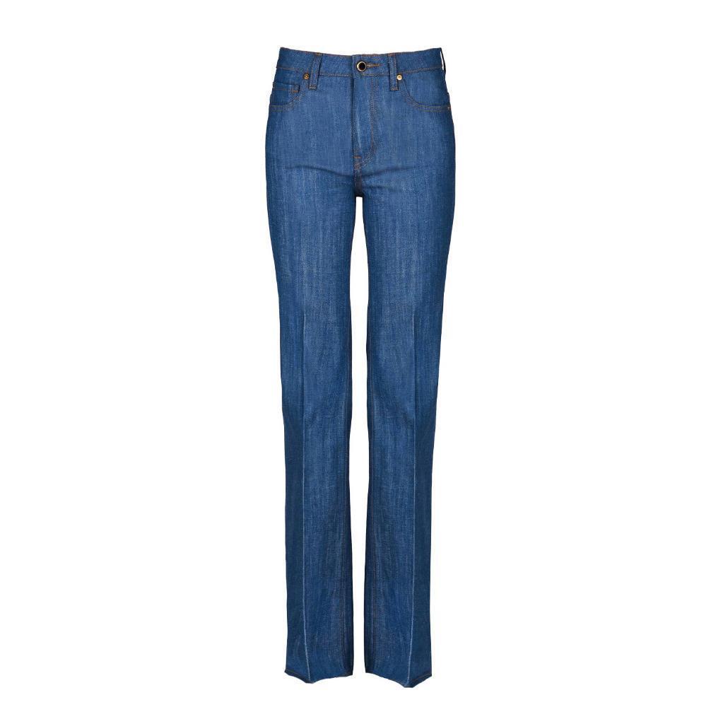 Khaite Damen Catherine Hose Roh Hoch Japanisch Jeans 25 Neu