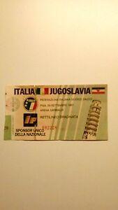 BIGLIETTO ITALIA JUGOSLAVIA 1987 - Italia - BIGLIETTO ITALIA JUGOSLAVIA 1987 - Italia