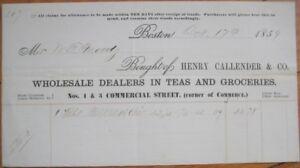 Boston Papier Callender Massachusetts tête en Henry 1859 avec Massachusetts à lettre 0xn1r80T
