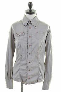 Diesel-Damen-Shirt-Groesse-18-XL-braun-Baumwolle-Slim-Fit-dd18