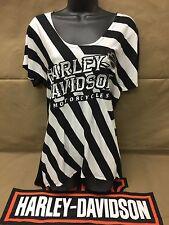 "Harley-Davidson Women's S/S ""cheeky Chic"" black & white striped shirt XL"